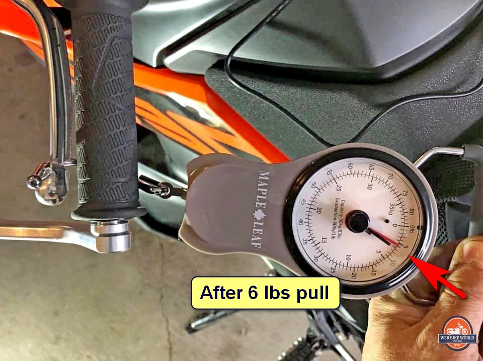 The Camel ADV 1 finger clutch pull kit for the KTM 790 Adventure reduces clutch lever pull weight to 6lbs.