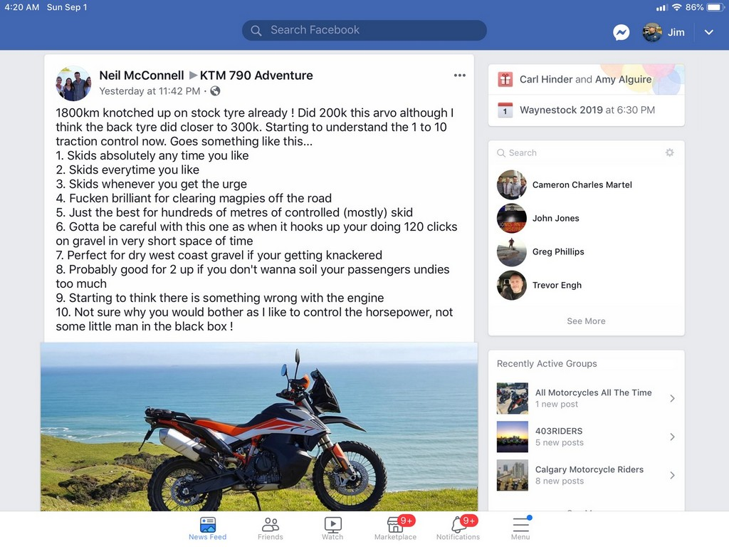 Neil's description of riding his new KTM 790 adventure made me laugh, but also agree with him.