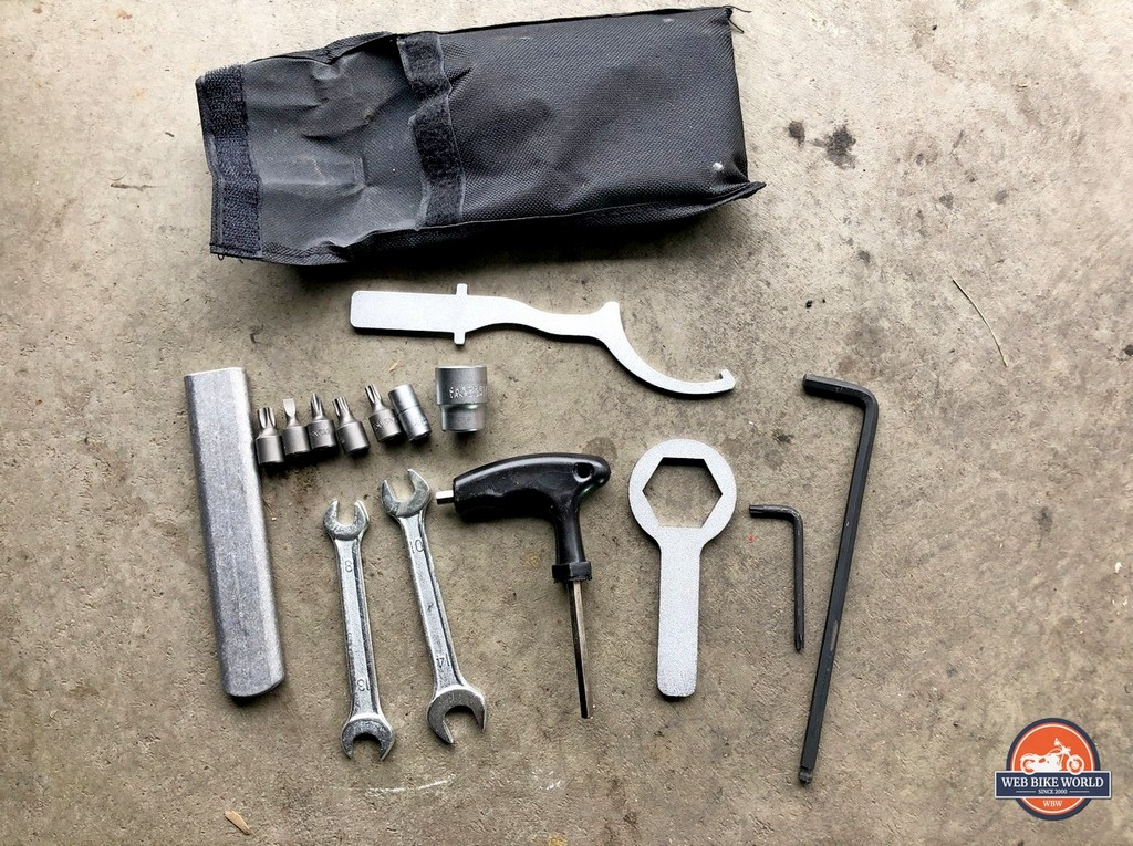 This capable tool kit comes included with the KTM 790 Adventure S. It's pretty decent too.