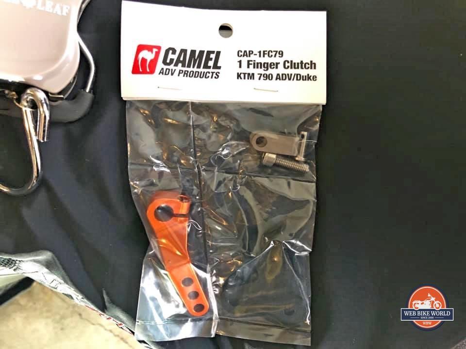 The Camel ADV 1 finger clutch pull kit for the KTM 790 Adventure.