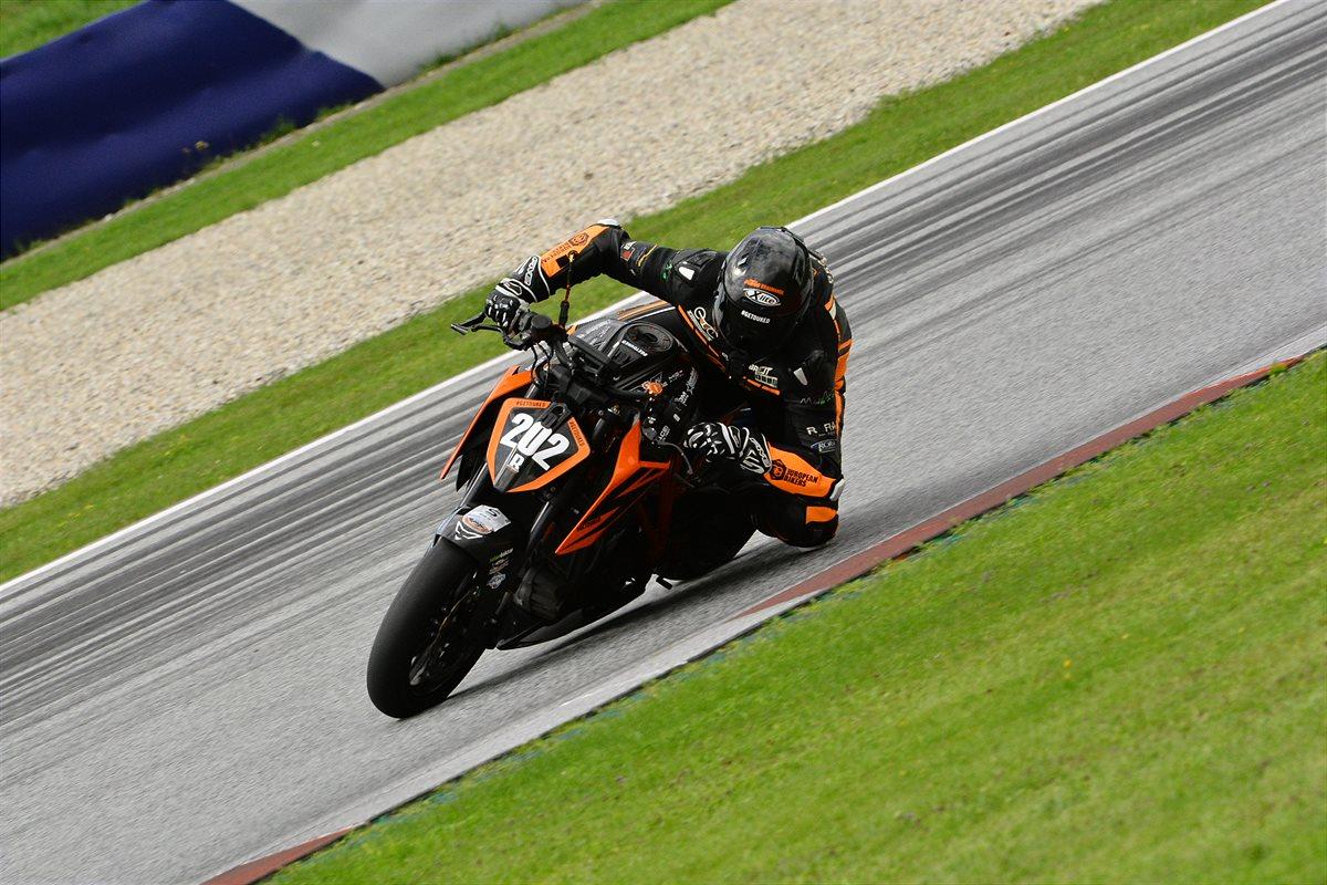 KTM DUKE RIDER on race track