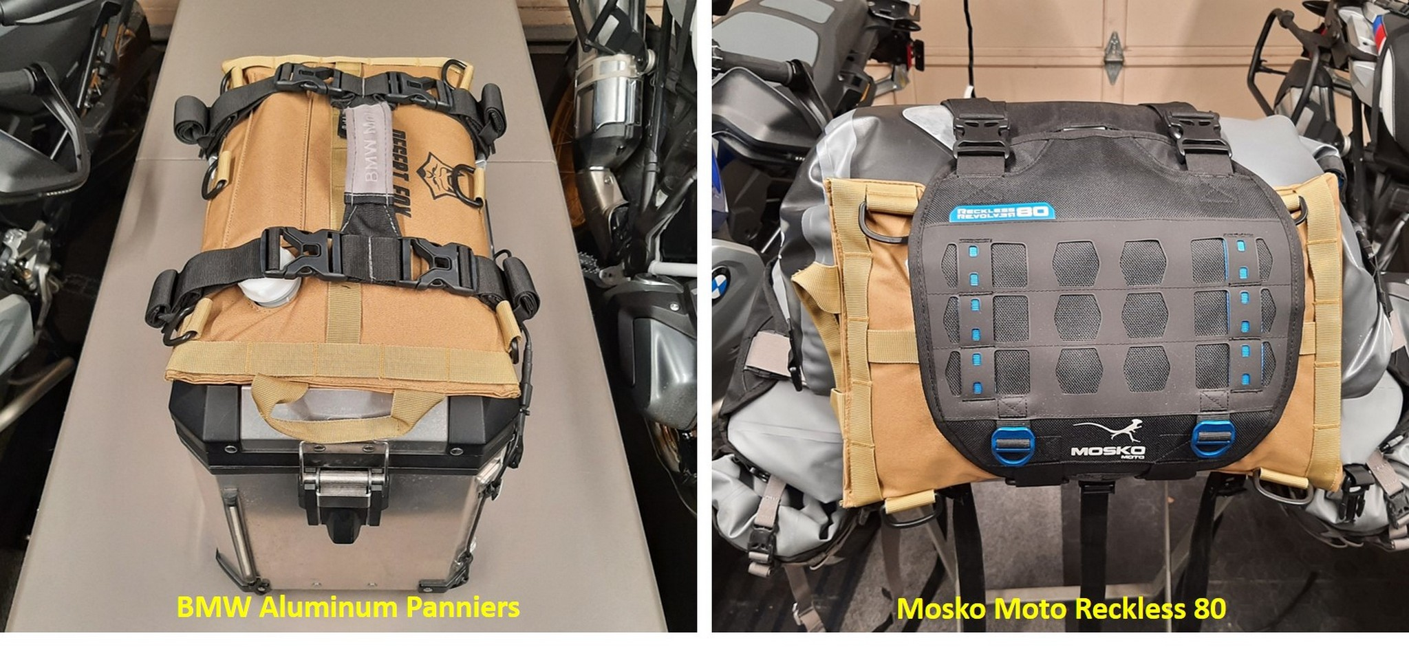 Fuel cell attached to different motorcycle accessories
