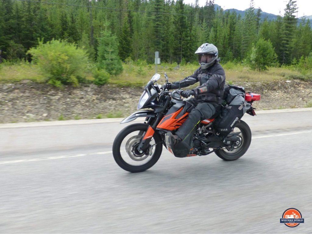 Me riding my 2019 KTM 790 Adventure.