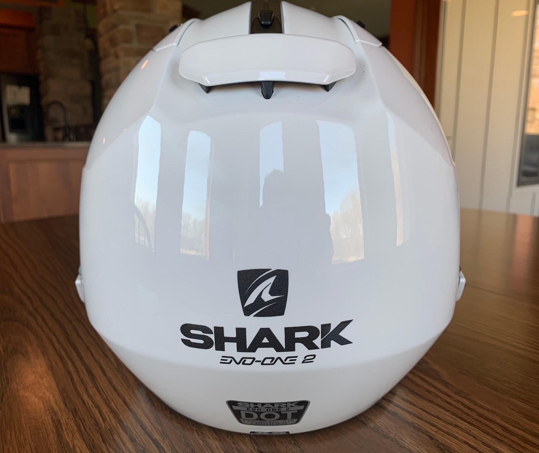 Rear view of the Shark EVO One 2 helmet