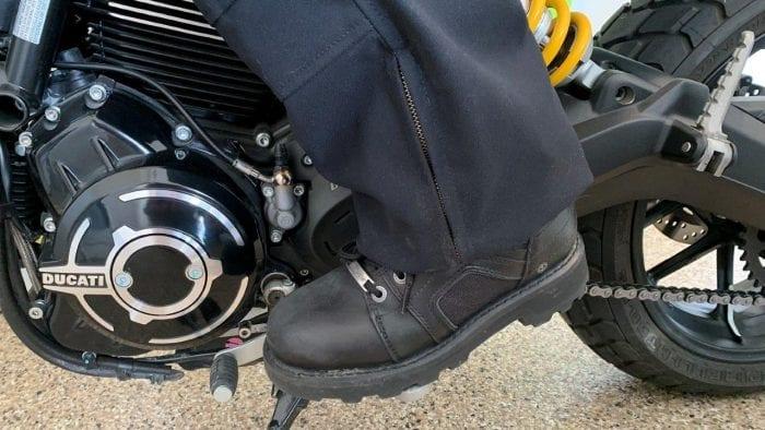 Raven Rova Pants Boot Zipper Close Up
