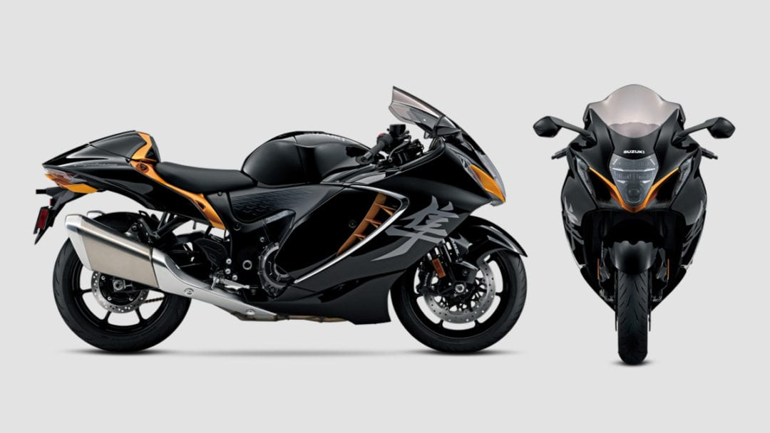 Front and side views of the 2021 Suzuki Hayabusa