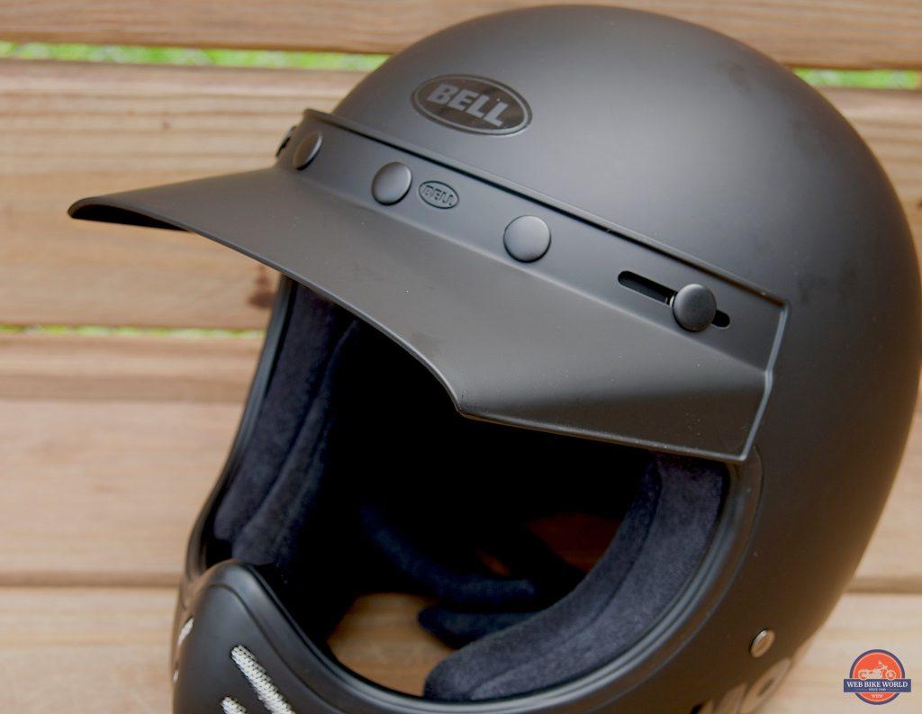 Bell Moto-3 Helmet visor and eye port detail