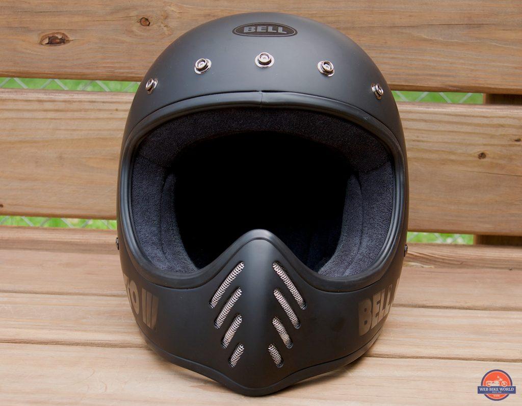 Bell Moto-3 Helmet front, no visor