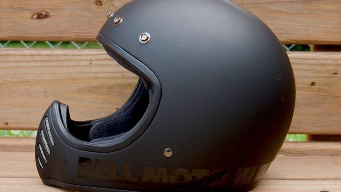 Bell Moto-3 Helmet side, no visor