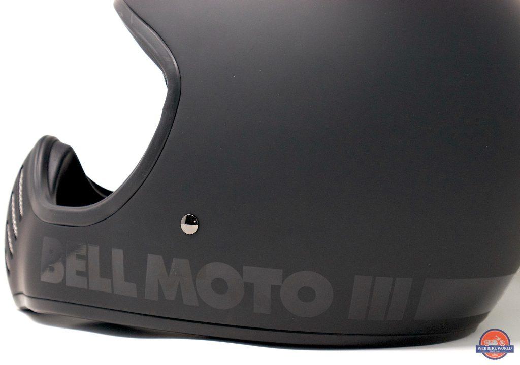 Bell Moto-3 Helmet side graphics detail