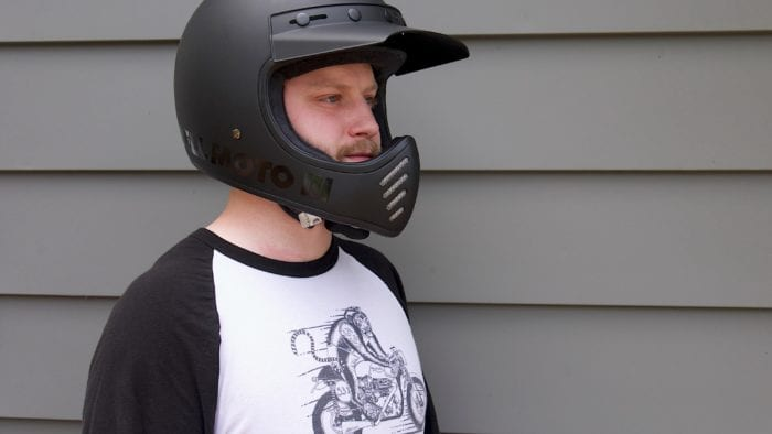 Wade Thiel wearing Bell Moto-3 Helmet