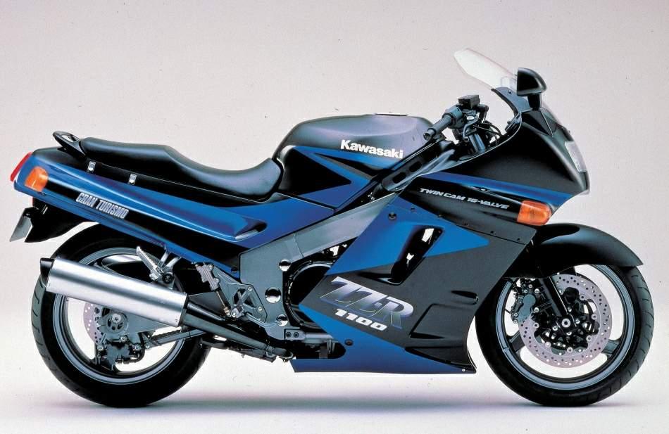 1990 Kawasaki Ninja ZX-11 ZZ-R1100 Side View