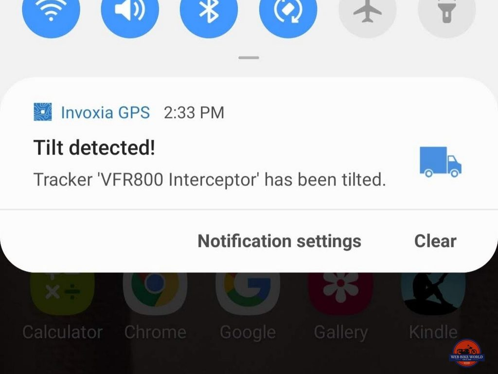 Screenshot of a notification on my Android