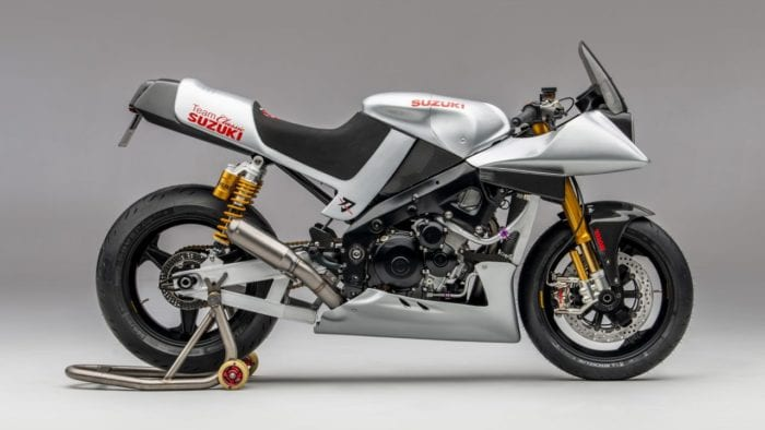 Team Classic Suzuki's lockdown project build; a Katana based around a 2008 GSX-R1000 world superbike machine