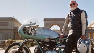 Keith Hale and his beautiful 1974 Ducati 750 SuperSuport