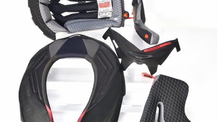 The comfort padding found in the Shark Spartan GT Replikan helmet.