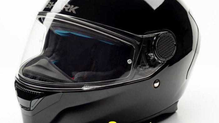 The Shark Spartan helmet.