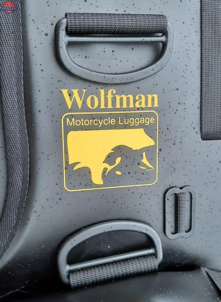 Wolfman Luggage Logo Up Close