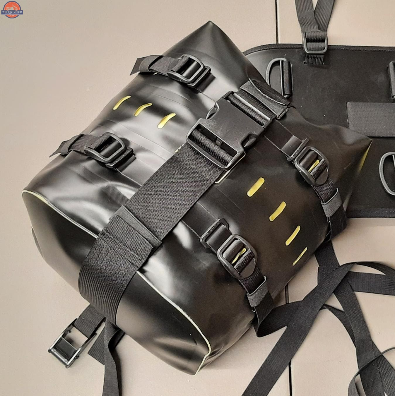 Wolfman Luggage B-Base With Rolie Bag Attached