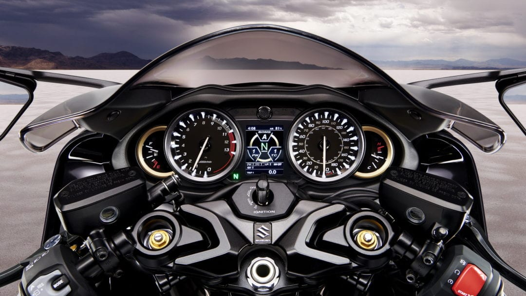 dashboard of the new 2021 Suzuki Hayabusa