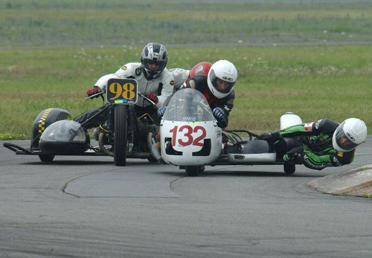 USCRA Vintage race riders for a win