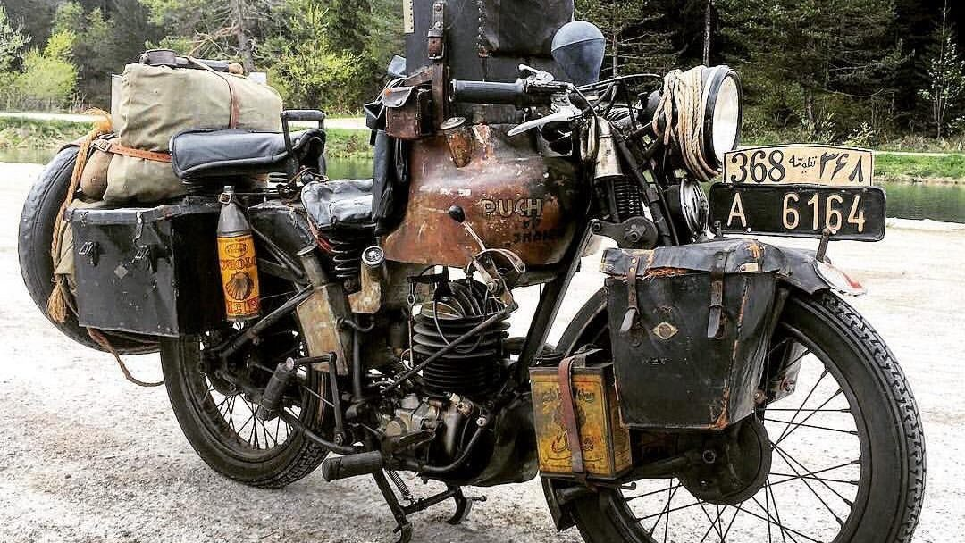 1933 Puch 250SL: The first motor vehicle to overland from Europe to India.