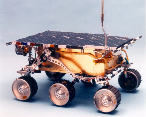 A model of the 1996 Sojourner rover.