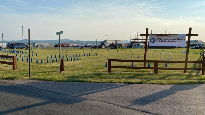 The BMW Motorrad obstacle course at the Buffalo Chip Campground.