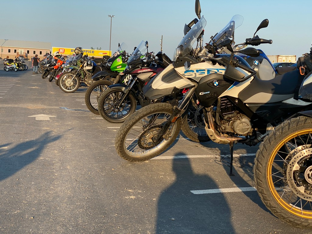 So many motorcycles came to the GET ON! Adventure Fest Rally in 2021.