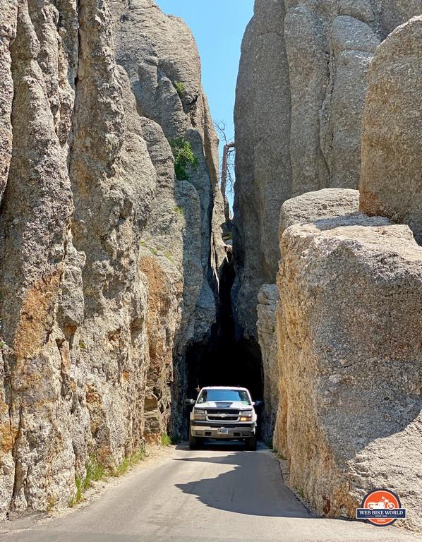 The Needle's Eye tunnel in South Dakota.