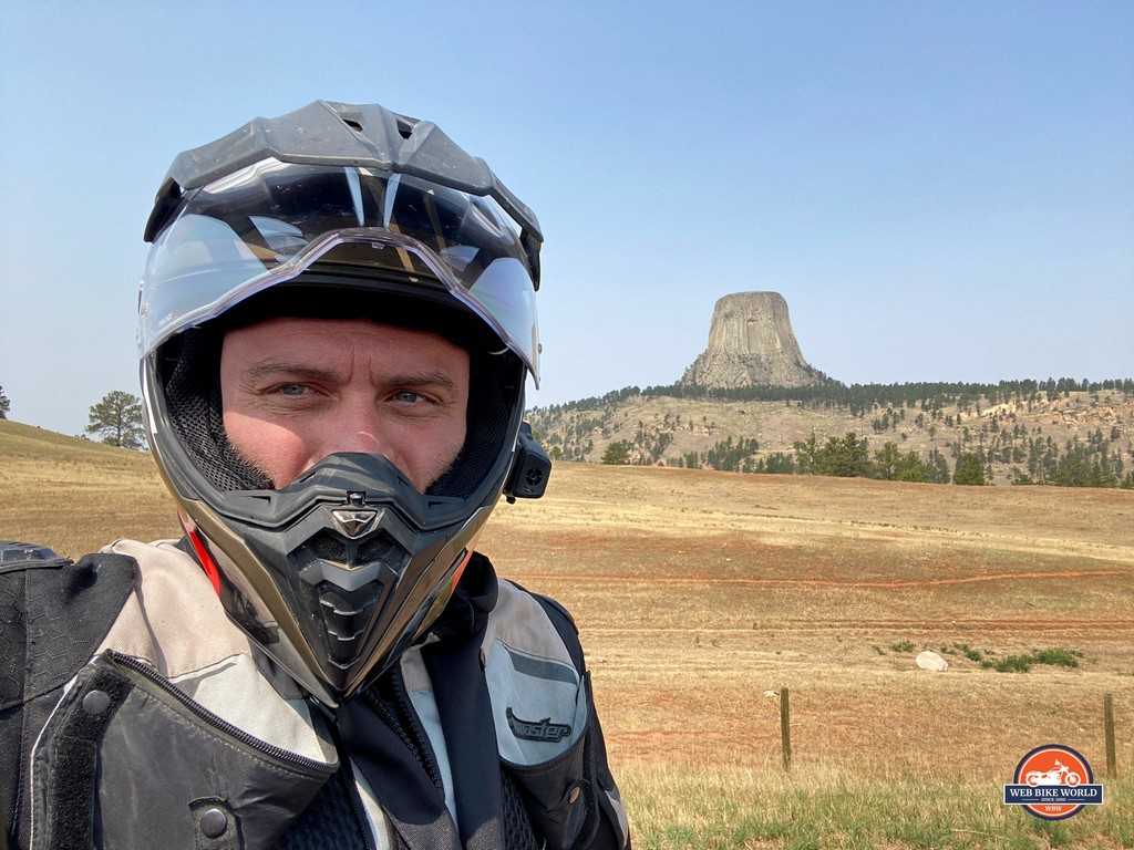 I got to see The Devil's Tower in Wyoming on my way home from Sturgis.