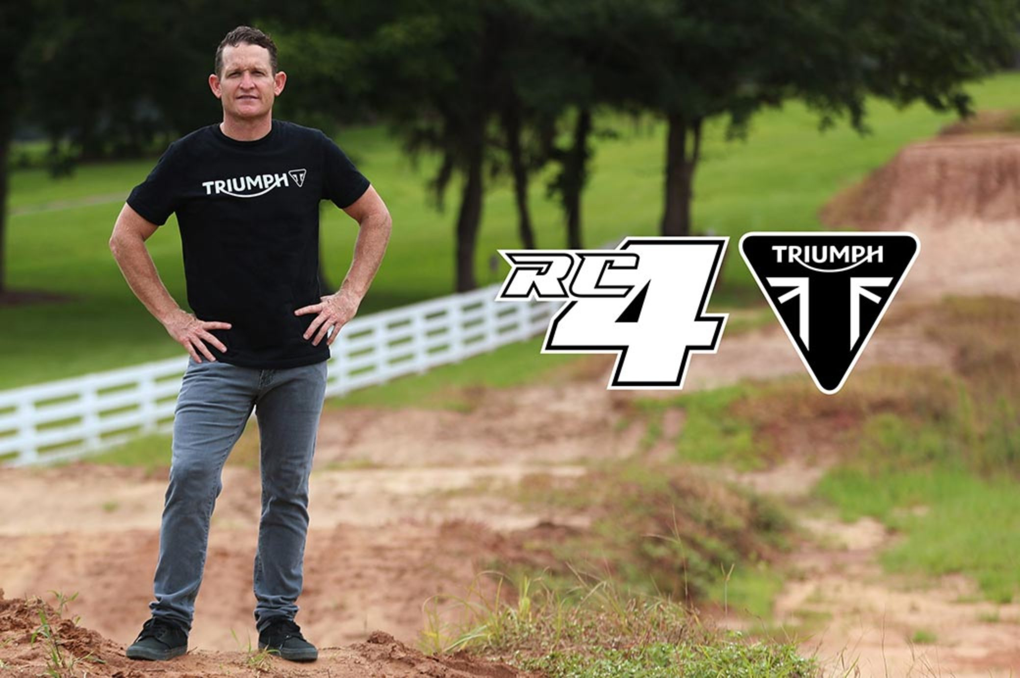 a hero of Ricky Carmichael, posing for the Carmichael/Triumph partnership