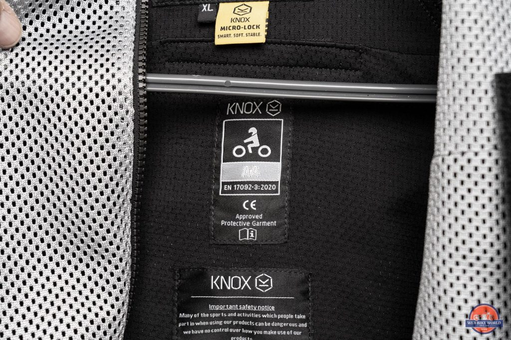 Knox Urbane Pro Mk II Armored Shirt Interior Label and Care Instruction Tag