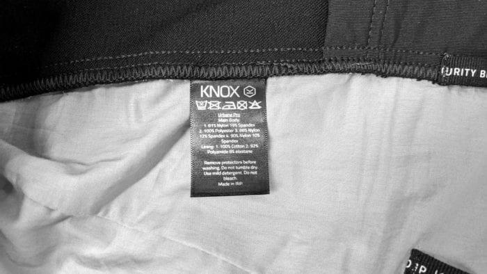 Knox Urbane Pro Mk II Armored Shirt Care Instruction Label