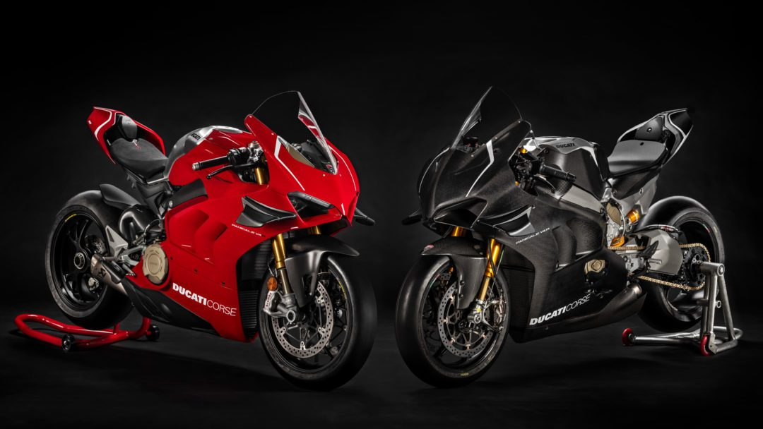 A view of the 2022 Ducati Panigale V4 R