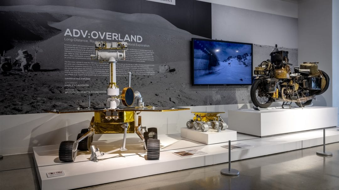 A view of the Peterson Automotive Museum's ADV: Overland Exhibit