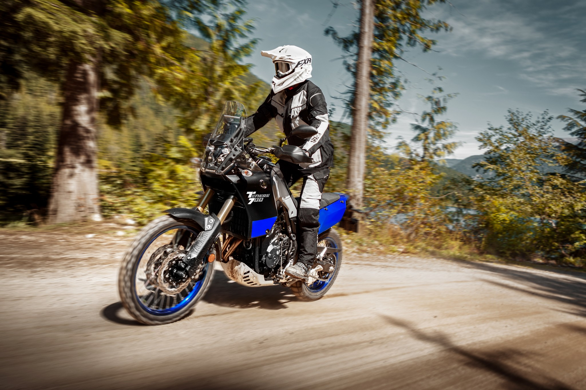 A view of a rider enjoying the new 2021 Yamaha Tenere 700