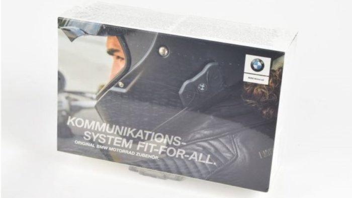 The BMW Fit-For-All Communication system made for motorcycle helmets.