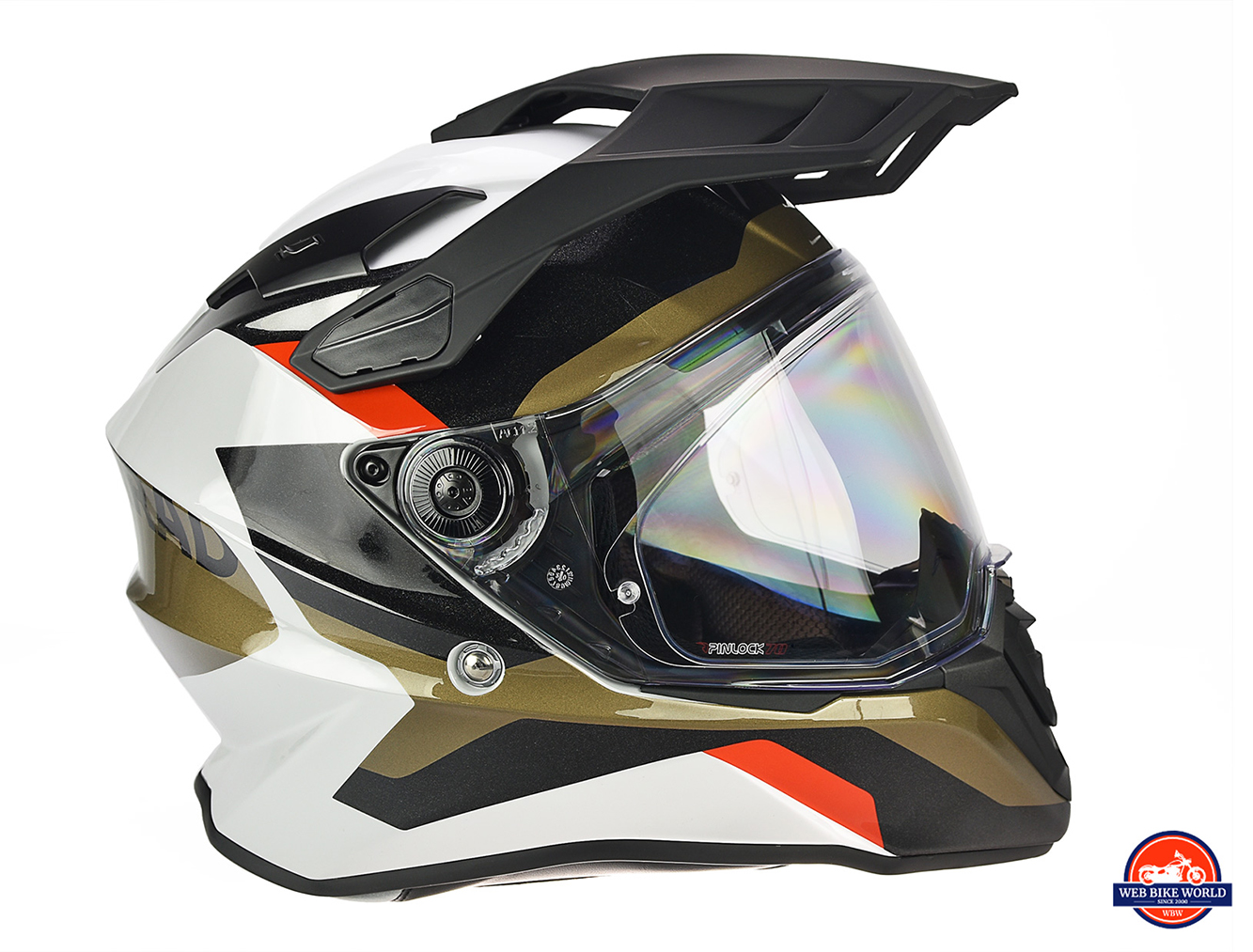 The BMW GS Pure helmet as seen from the R side.