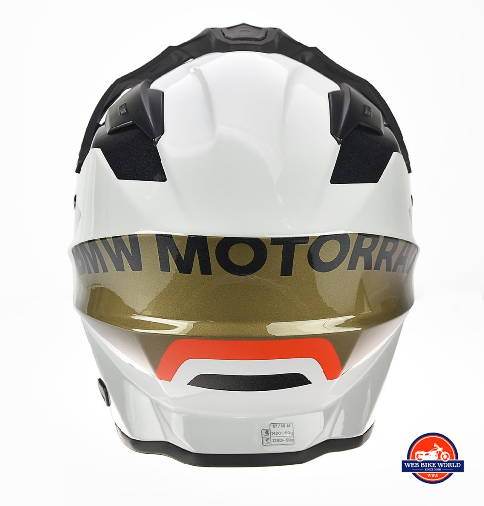 The BMW GS Pure helmet rear view.