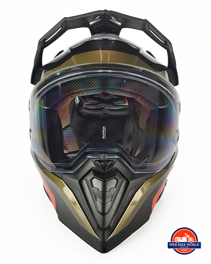 The BMW GS Pure helmet front view.