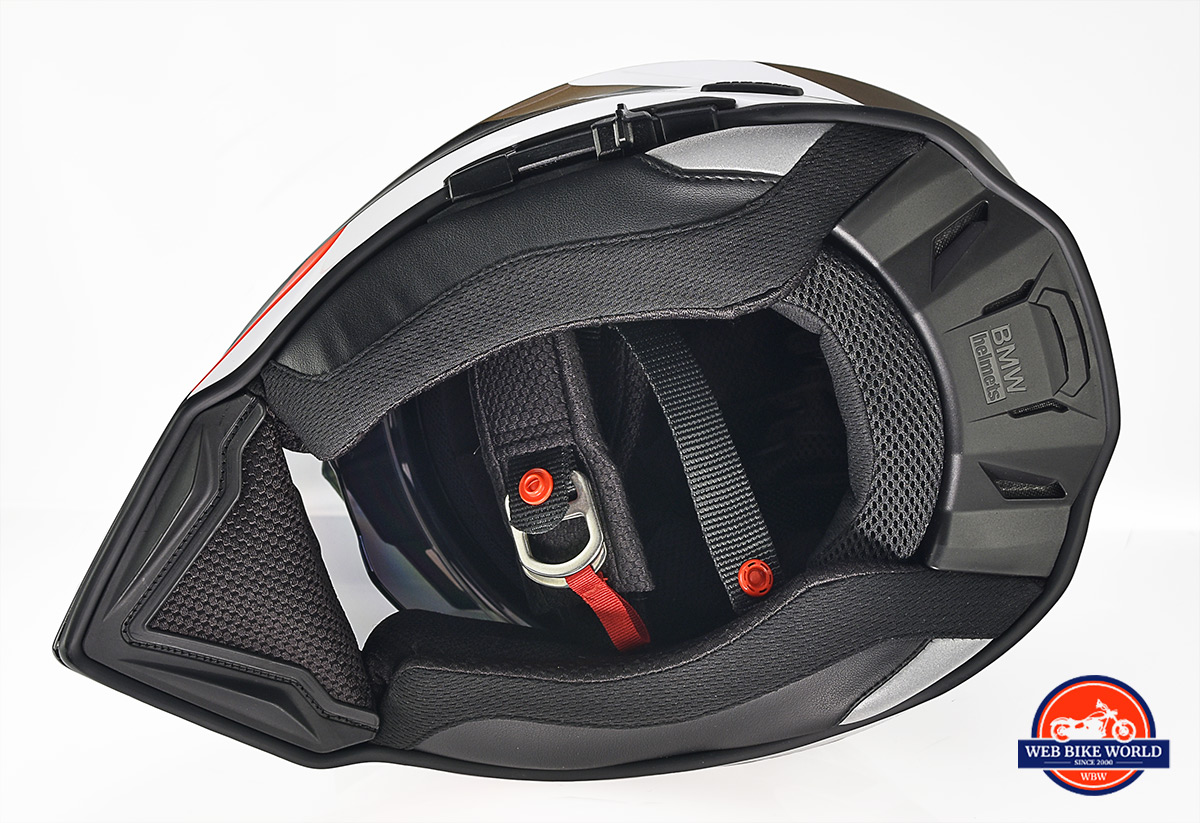 The bottom view of the BMW GS Pure helmet.