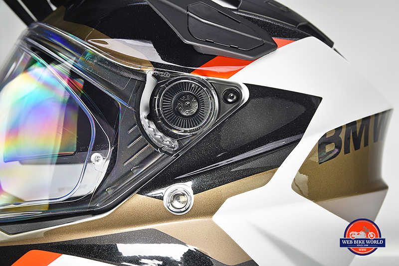 You'll need an Allen key to remove the visor from the BMW GS Pure helmet.
