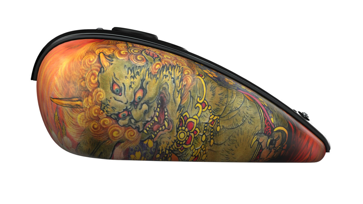 A close up of the Indian Chief's Tank designed by Yokohama tattoo artist Shige