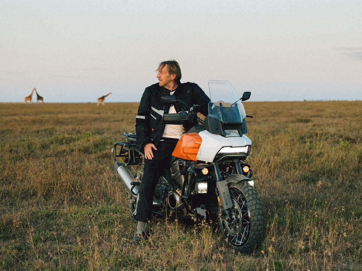 Jochen Zeitz, Chairman, CEO and President of Harley-Davidson, enjoying the all-new Harley Davidson Pan America