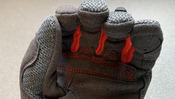 A view of the connect fingertip fabric on the REV'IT! Volcano gloves