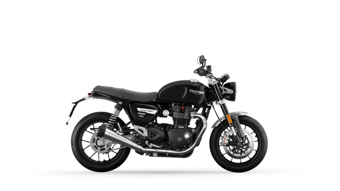 A side view of the 2022 Triumph Speed Twin