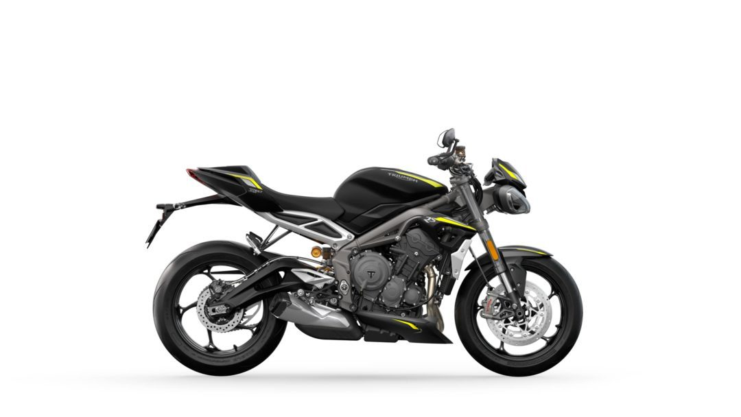A side view of the 2022 Triumph Street Triple RS