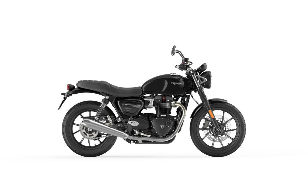 A side view of the 2022 Triumph Street Twin
