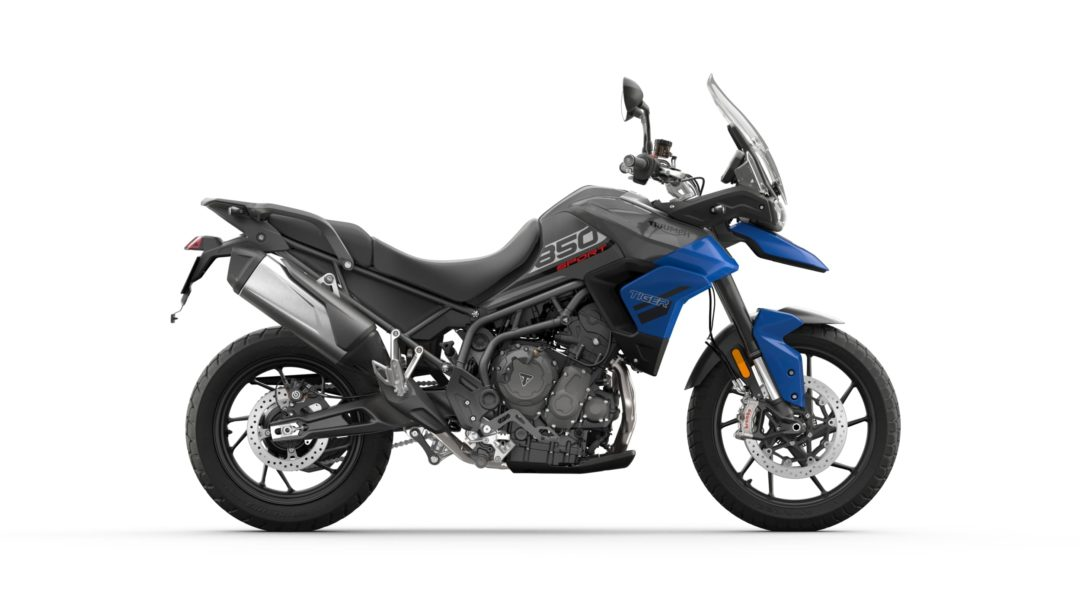 A side view of the 2022 Triumph Tiger 850 Sport